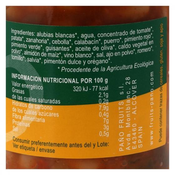 Alubias con verdura ecológica ecológico Paño 330 g. - 3