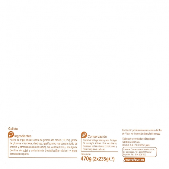 Galletas con canela Carrefour 470 g. - 3
