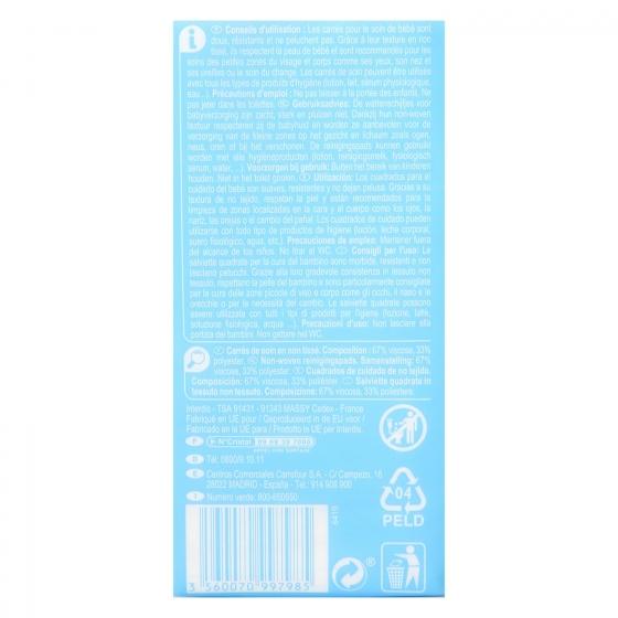 Algodón en cuadrados de cuidado cara y cuerpo Sensitive Carrefour Baby 100 ud. - 1