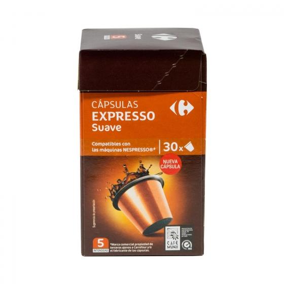 Cafe Suave En Capsulas Carrefour Compatible Con Nespresso 30