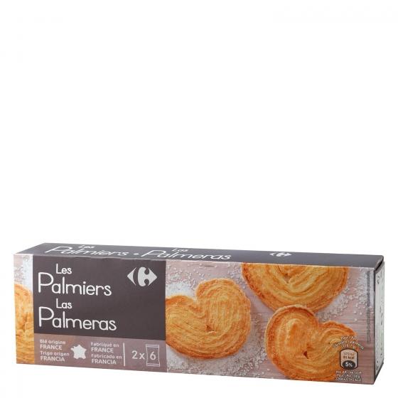 Palmeras de hojaldre Carrefour 100 g.