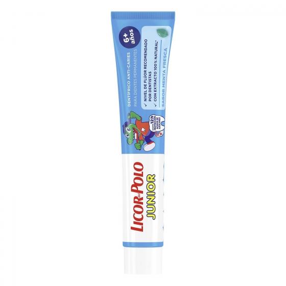 Dentífrico con fluor junior + 6 años Licor del Polo 75 ml. - 1