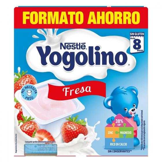 Postre lácteo de fresa desde 8 meses Nestlé Yogolino sin gluten pack de 8 unidades de 100 g. - 5