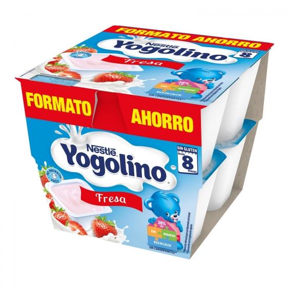 Postre lácteo de fresa desde 8 meses Nestlé Yogolino sin gluten pack de 8 unidades de 100 g. - 6