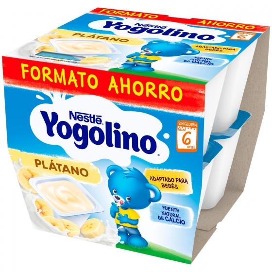 Postre lácteo de plátano desde 6 meses Nestlé Yogolino sin gluten pack de 8 unidades de 100 g. - 3