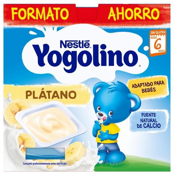 Postre lácteo de plátano desde 6 meses Nestlé Yogolino sin gluten pack de 8 unidades de 100 g. - 5