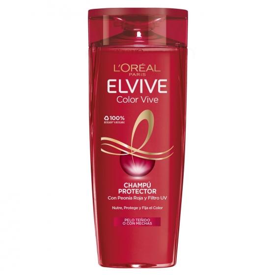 Champú Color-Vive para cabello teñido o con mechas L'Oréal-Elvive 370 ml.
