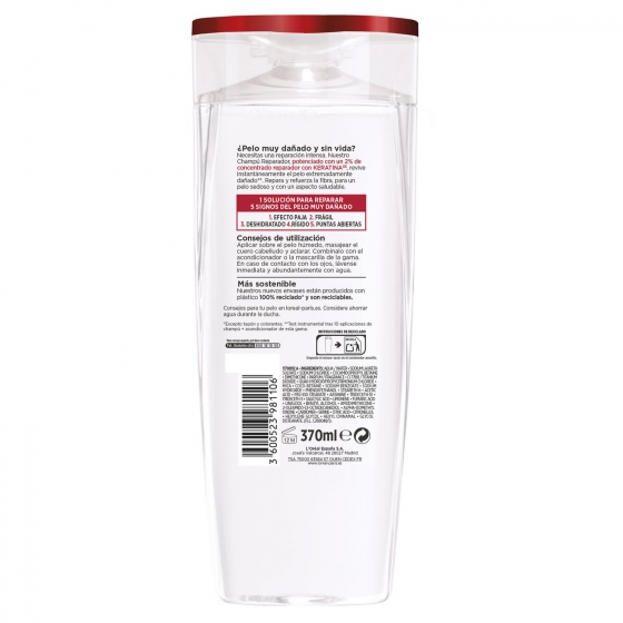 Champú Total Repair 5 para cabellos dañados L'Oréal-Elvive 370 ml. - 1