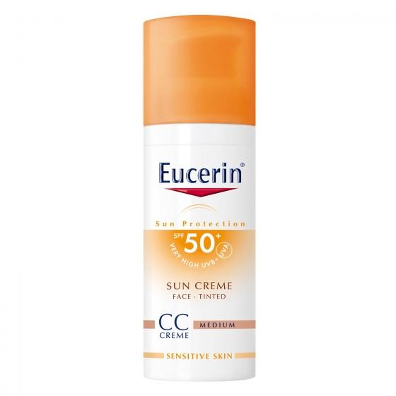 Crema solar CC Creme FP 50+ para piel sensible Eucerin 50 ml.