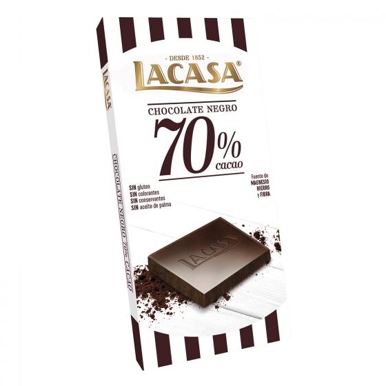 Chocolate negro 70% Lacasa 100 g.