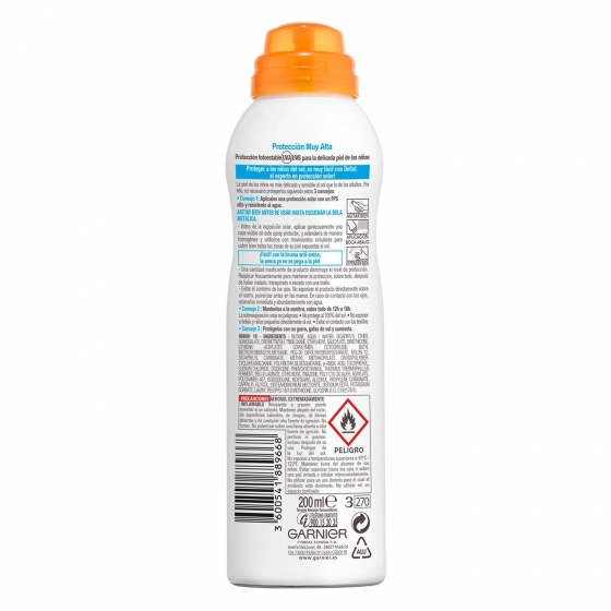Bruma para niños Anti Arena FP 50+ aerosol Delial 200 ml. - 1