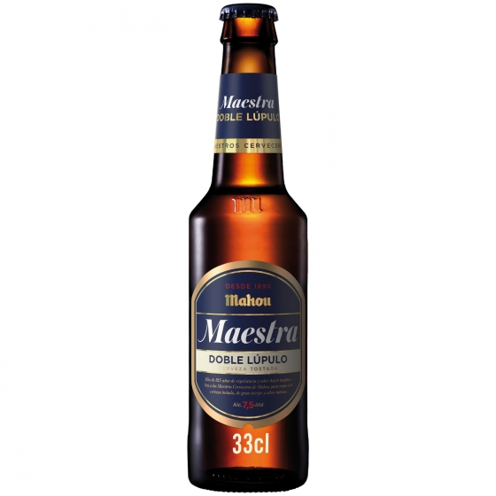 Cerveza Mahou Maestra Tostada Doble Lupulo Botella 33 Cl