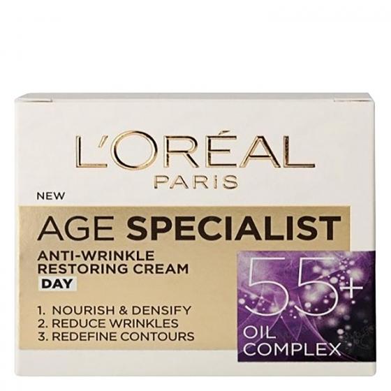 Crema de día antiedad Age Specialist 55+ L'Oréal 50 ml.