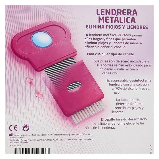 Lendrera metálica elimina piojos y liendres Paranix 1 ud. - 1