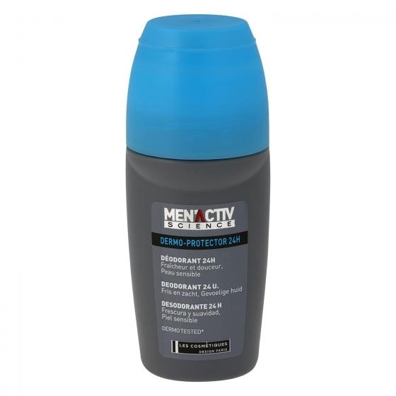Desodorante roll-on Dermo-Protector 24h Les Cosmétiques -MenActiv' 50 ml.