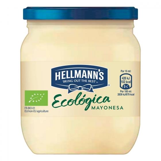 Mayonesa ecológica Hellmann's tarro 190 ml.