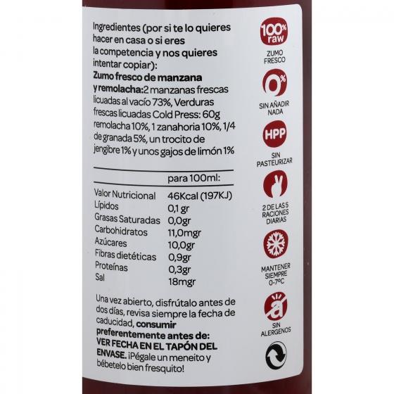 Zumo vegetal Romantics Transilvania botella 25 cl. - 3