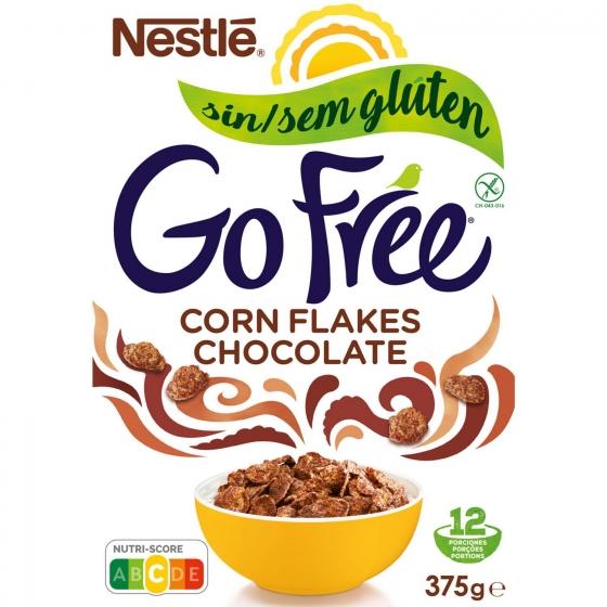 Cereales con chocolate Corn Flakes sin gluten y sin lactosa Nestlé 375 g.