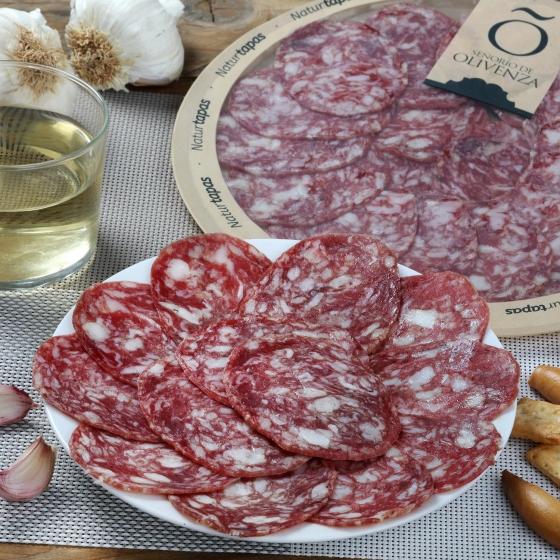 Salchichón ibérico de cebo plato loncheado Señorío de Olivenza 90 g - 1