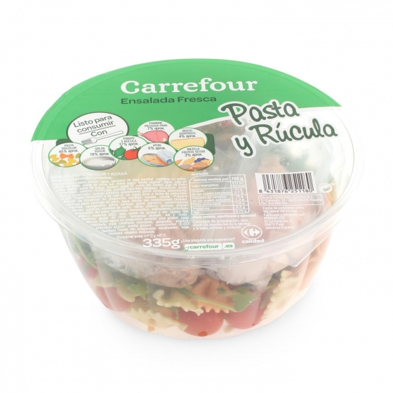 Ensalada pasta y rúcula Carrefour 335 g