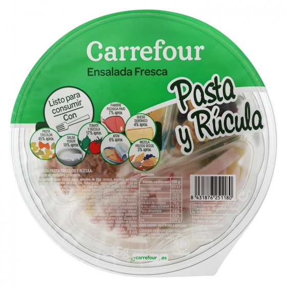 Ensalada pasta y rúcula Carrefour 335 g - 1