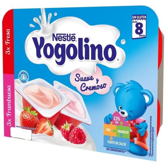 Postre lácteo de fresa y frambuesa desde 8 meses Nestlé Yogolino sin gluten pack de 6 unidades de 60 g. - 6
