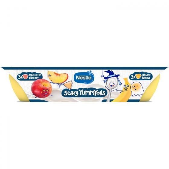 Postre lácteo de plátano y melocotón desde 6 meses Nestlé Yogolino sin gluten pack de 6 unidades de 60 g. - 3