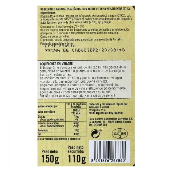 Boquerones en vinagre De Nuestra Tierra 110 g. - 1