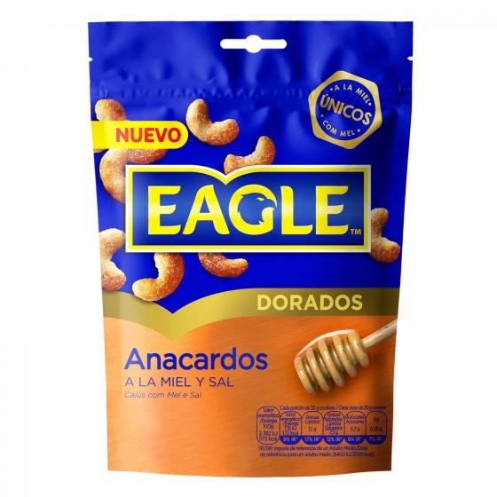 Anacardos con miel y sal Eagle 75 g.