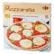 Pizza masa fina mozzarella, tomates cherry, edam
