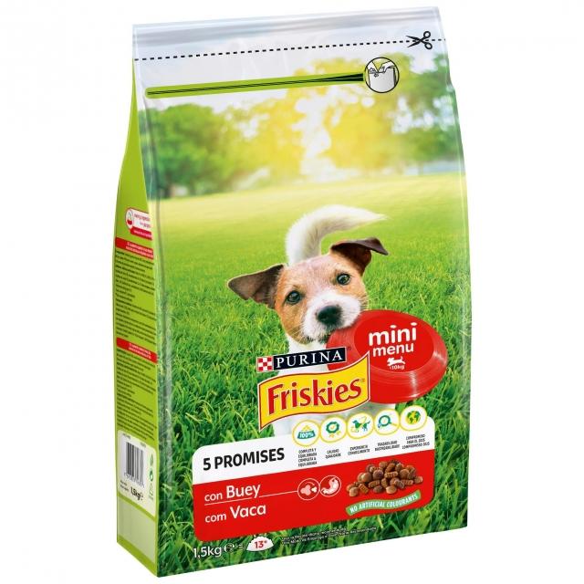 Alimento para Perro Purina Friskies® Mini Menú con Buey 1,5Kg