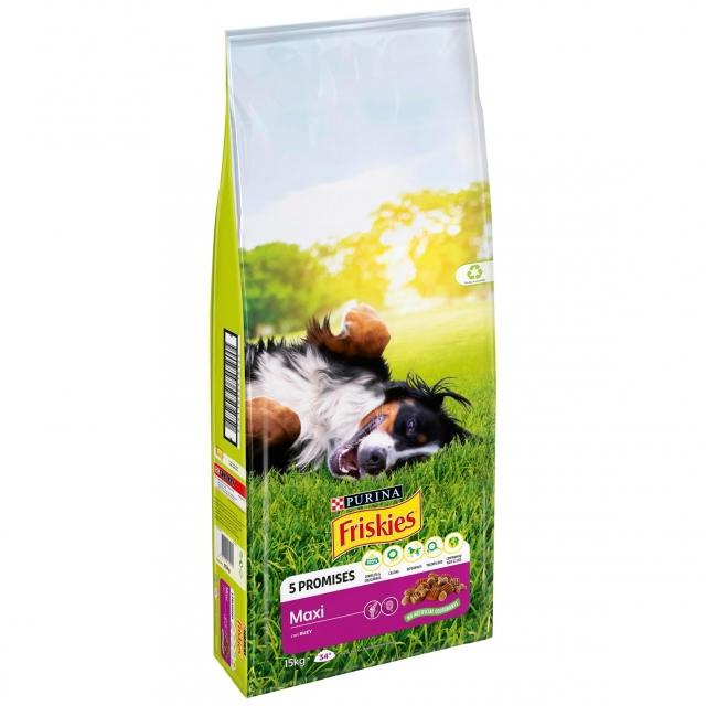 Alimento para Perro Purina Friskies Maxi Rico en Carnes 15Kg