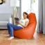 Puff Pera Polipiel Indoor Naranja Happers Infantil