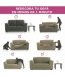 Funda Sofa 3 Plazas Ektrop Ikea - Color - Lino Oscuro