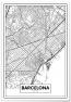 Panorama® Cartón Pluma  Mapa De Barcelona 21 X 30 Cm   Impreso En Cartón Pluma De Alta Calidad   Cuadros Decoración Salón   Cuadros Para Dormitorio   Lienzos Decorativos