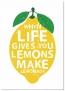 Panorama® Cuadro De Aluminio Lemonade 50x70cm   Impreso En Aluminio Dibond Blanco   Cuadro Frases Positivas   Cuadros Mensajes Decoración   Cuadros Para Dormitorio   Láminas Decorativas