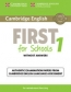 (15).cambridge English First School 1 Pack (st+key+cd)