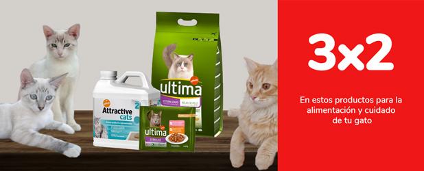 3x2 en estos productos para la alimentación y cuidado de tu gato