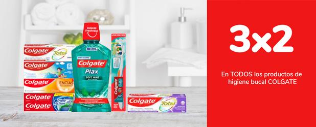 3x2 En TODOS los productos giode higiene bucal COLGATE