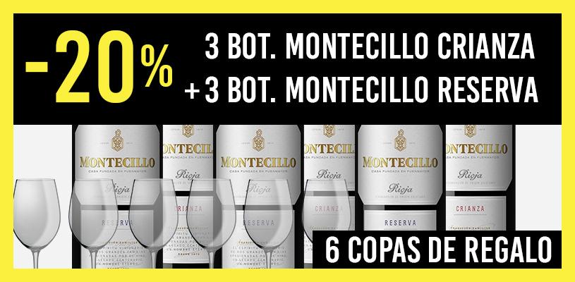 6 botellas Montecillo Reserva y Crianza al 20%