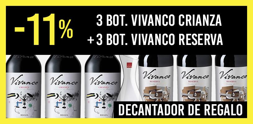 6 botellas Vivanco Reserva y Crianza al 11%
