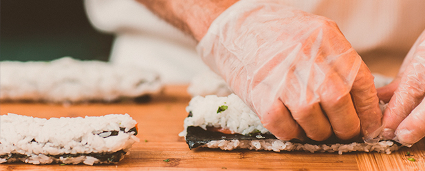 Sushi fresco y natural