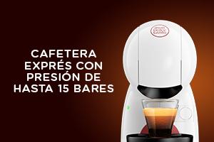 Cafetera exprés con presión de hasta 15 bares