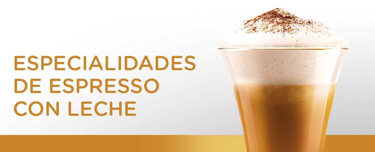 Especialidades de Espresso con leche