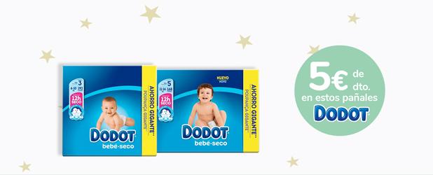 Ahorra 5€ por la compra de cualquiera de estos pañales Dodot, descuento aplicable en cupón válido hasta 28/07/2020 - Exclusivo Online