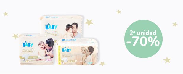 2a unidad -70% en Pañales Premium Ultra Protect Carrefour Baby