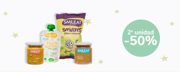 2ª unidad al -50% En todos los productos de la marca SMILEAT