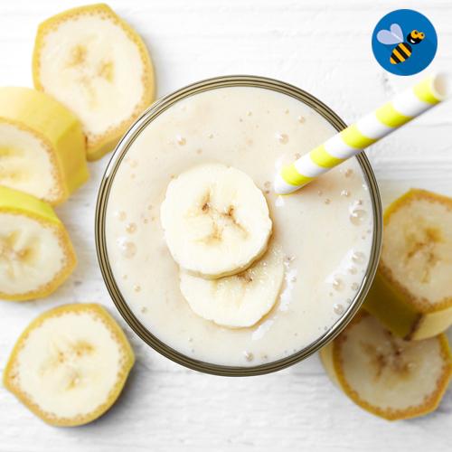 crema helada de plátano