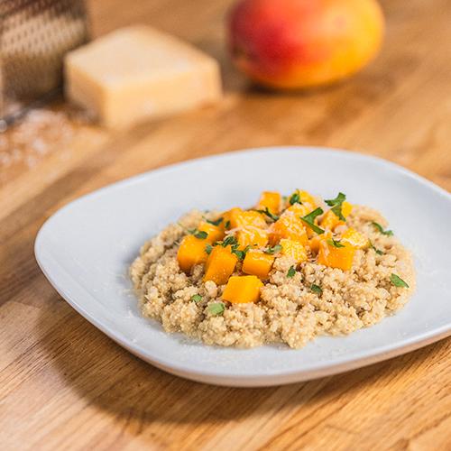 risotto de quinoa y mango