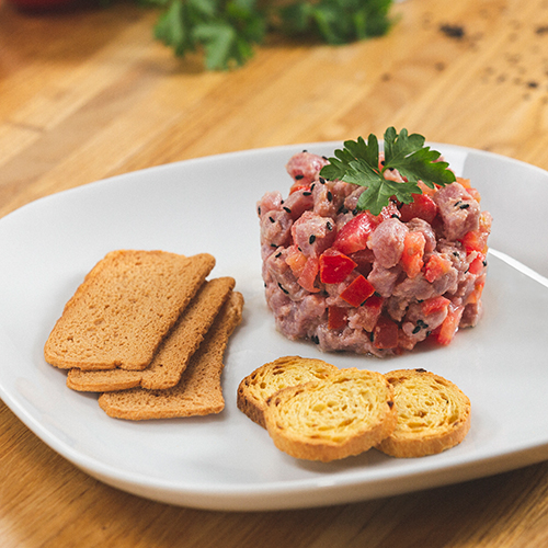 Tartar de tomate y atún